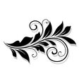 Decorative floral element with shadow vector image vector image