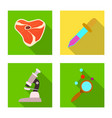design of and icon set of and vector image
