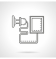 Device charger flat line icon vector image vector image