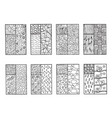 doodle windows - coloring page for adults vector image