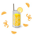 drink orange juice orange background image vector image vector image