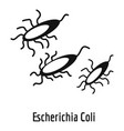 escherichia coli icon simple style vector image vector image