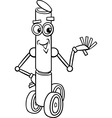 fanatasy robot cartoon coloring page vector image