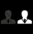 flare mesh carcass manager icon with spots vector image vector image