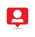 follower notification social media icon user user vector image