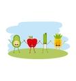 food character menu icons vector image vector image