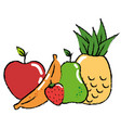 fruits food organic vector image