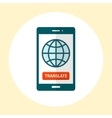 Globe on smartphone screen vector image vector image