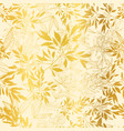 gold yellow leaves and branches repeat vector image