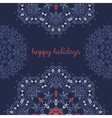 Greeting card with abstract vector image vector image