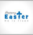 happy easter cross script vector image vector image