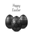 happy easter greeting card with eggs vector image vector image