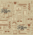 happy fathers day seamless pattern vector image vector image