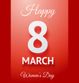 happy womens day poster vector image vector image