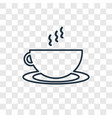 hot drink concept linear icon isolated on vector image