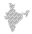 india map country abstract silhouette from vector image