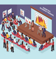 isometric business training vector image vector image
