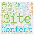 JP yahoo sitemap text background wordcloud concept vector image vector image