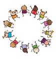 kids circle vector image
