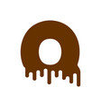 letter q chocolate font sweetness alphabet liquid vector image vector image