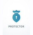 lock and castle logo vector image vector image