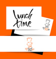 lunch time restaurant vector image vector image