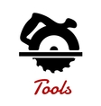 Miter saw with handle black silhouette vector image vector image