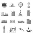 Oil industry set icons in monochrome style Big vector image vector image