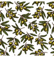 olives pattern seamless background vector image vector image