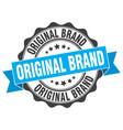 original brand stamp sign seal vector image