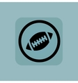 Pale blue rugby sign vector image vector image