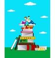 Read books concept vector image vector image