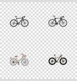 realistic brand exercise riding cyclocross vector image vector image