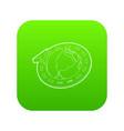 road around earth globe icon green vector image vector image