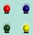 Rotating beacons vector image