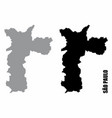 sao paulo city silhouette maps vector image vector image