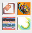 set of four beautiful abstract backgrounds vector image vector image