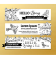 set of horizontal spring banners vector image vector image