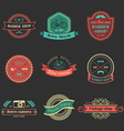 Set of ribbons and design elements vector image vector image