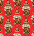 Sketch Thanksgiving hat and turkey vector image