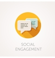 Social Engagement Icon Flat design style with vector image