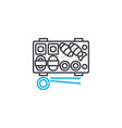 sushi rolls linear icon concept sushi rolls vector image vector image