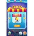 Sweet world mobile GUI shop screen video web games vector image vector image