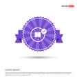 swimming trunks icon - purple ribbon banner vector image