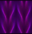 ultraviolet neon wavy lines seamless pattern vector image vector image