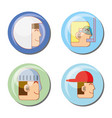 video game scene set icons vector image