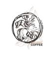 vintage coffee symbol nature sketch vector image