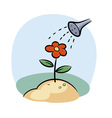 Watering flower vector image