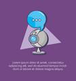 web camera speech bubble communication innovation vector image vector image