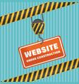 website under construction banner vector image vector image